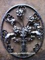 de alta calidad populares de hierro forjado del jardín decorativo paneles de la cerca