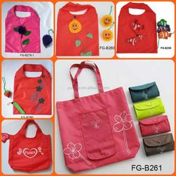 Foldable Fruit Shape Shopping Bag with Customized Logo Printing Available