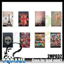 for ipad mini 2 case color print leather protective case for ipad mini 3