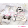 New Wedding Favors/ Silver Heart shaped Measuring Spoons In White Box