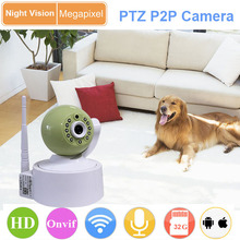 mobile control night vision ptz mini ip wifi p2p camera
