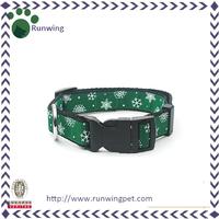 Green Dog Collar Strap Nylon Running Pet Collar