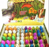 60pcs/lot Novel Water Hatching Inflation Dinosaur Egg Watercolor Cracks Grow Pet Egg Educational Toys Interesting Gift