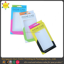 Plastic packaging box for cell phone case/cell phone case packaging box/cell phone case paper packaging box