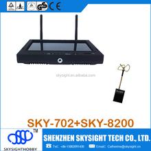 7 ' lcd receptor / transmissor monitor + 200 mw mini fpv sky-8200 pode se conectar a fpv camera