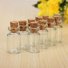5g Mini Clear Cork Stopper Glass Bottles Vials Jars Containers Small Wishing Bottle