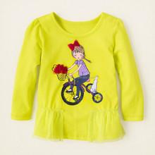 custom baby girl boy printed t-shirts, long sleeve children t shirt kid t-shirt