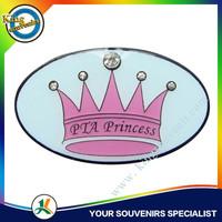 crown logo badge emblems custom head badge waterproof badge holders