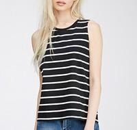 summer fashional women's stripe round neck women wholesale tank top
