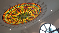 Asia stained glass dome skylight,glass roof skylight for house