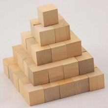 Craftwood Wooden Cubes 12*12*12mm wooden unfinished mini cube