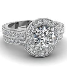 fashion jewelry design halo pigeon ring