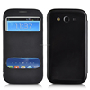 Wholesale view window flip folio magnetic closure PU case for Samsung I9118
