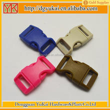 Yukai plastic curved safety buckle/16 mm plastic buckle/paracord buckle with logo