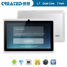 Android 4.0 Allwinner A23 dual core 7inch 800*480 tablet apple