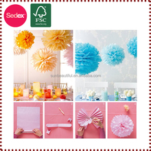 party supplies flower stage decoration for hanging paper decoration