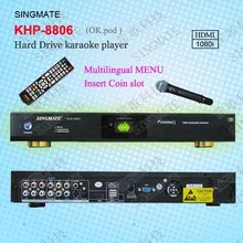 HDD karaoke machine with HDMI ,Support VOB/DAT/AVI/MPG/CDG/MP3+G songs ,KOD system