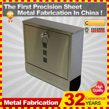 wall mount mailbox/durable stainless steel letterbox/outdoor newspaper holder