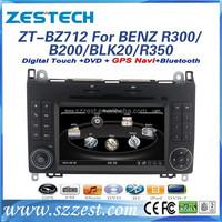 car TV for mercedes benz R350 car TV R class R280 R300 R320 R500 W251 with audio dvd remote control ZT-BZ712