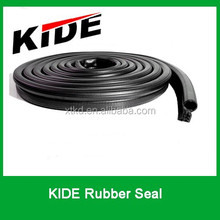 EPDM black co-extruded rubber seal with steel