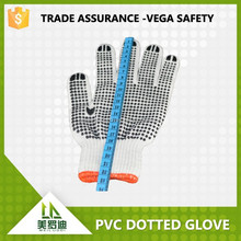 china cheaper PVC dotted bleach cotton gloves ,soft. antislip,,abrasion resistance safety work protection gloves