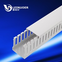 Halogen Free Slotted Wiring duct-slotted pvc cable tray