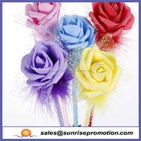 Hot selling Promotion cartoon flower top pen