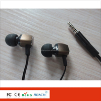 High quality new fashion flat wired metal earphone for Samsung BBK