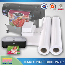 Microporous high glossy inkjet photo paper with double side pe coated