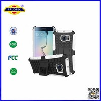 Heavy Duty Shock Proof Impact Rugged Hybrid Case For Samsung Galaxy S6 Edge Kick Armor Phone Back Cover With Stand Function