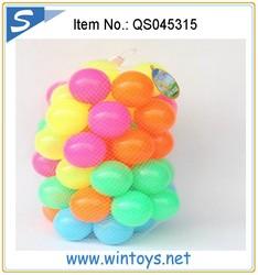 50pcs set colorful bulk different size 5.5 cm plastic ocean balls for kids