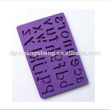 nuevas letras de molde de silicona fondant o pasta gomademascar decoración de pasteles de herramientas del molde