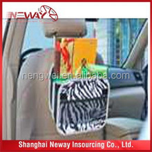 Colorful Customized Style Car Seat Back Organizer in 600D polyester