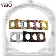 Q3 Popular Square Arc ABS Plastic Curtain Eyelet Ring with silencer in DIY different colors