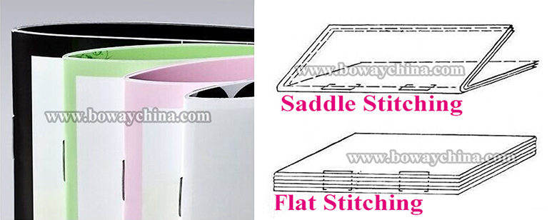 flat and saddle stitching