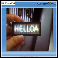 Factory price Programmable LED scrolling message Badge