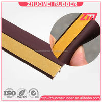 PVC building product self adhesive backed door seal profile