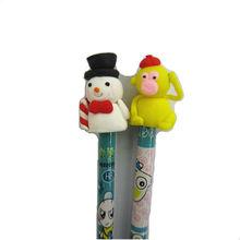 polymer clay animals pencil snowman pencil