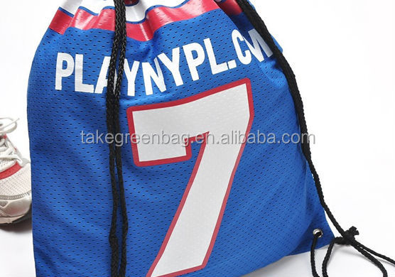 travel polyester sports drawstring bag