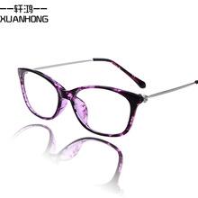 238 ewhxyj 9312 retro fashion retro plain mirror diamond metal legs plain glass spectacles frame glasses male and female models