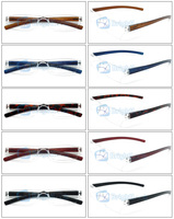 2014 cheap rimless one-piece reading glasses