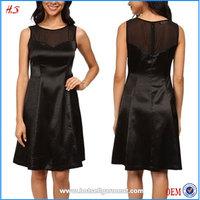 Fashion New Style Korean Clothes Ladies Black Sleeveless Dresses For Women