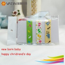Wholesale printed new born baby step gift ribbon /happy children's day ribbon