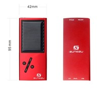 Aluminum solar power MP3 players with TF card support