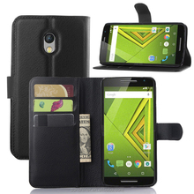 wholesale mobile phone leather case for Moto X Play