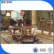 D-8005 wicker glass top wood long dining room tables