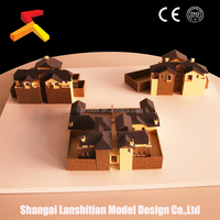 modern container house , new product plastic miniature scale building model