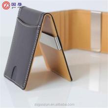 Custom Smart Metal Money Clip / Money Clip Wallet Genuine Leather