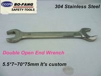 Hot Sale High Quality 304 Stainless Steel Non Magnetic Hand Tools Double Open End Wrench