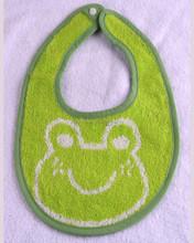 100% algodão terry animal de estimação ou dos desenhos animados design fios tingidos e jacquard babadores para bebês
